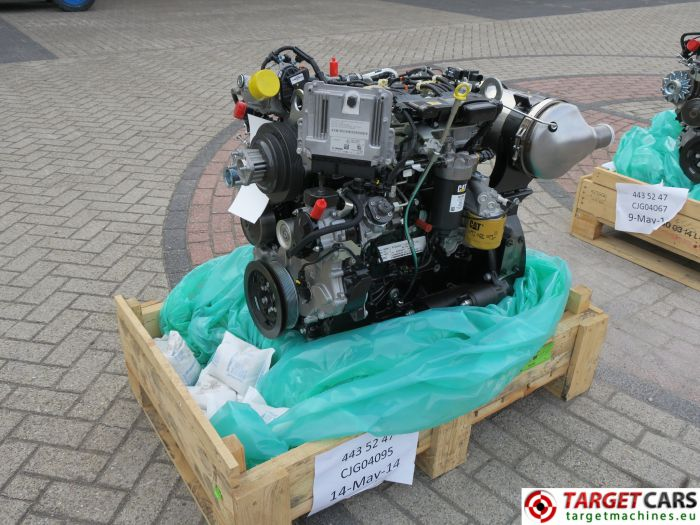 CAT C3.4B 443-5247 PERKINS DIESEL 4-CYLINDER ENGINE 75KW-2200RPM CJG04095 NEW/UNUSED