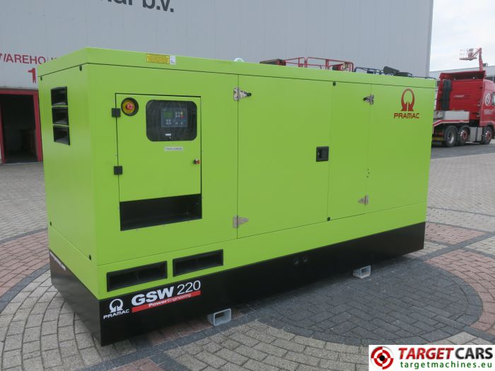 PRAMAC GSW220 DIESEL GENERATOR SET 220KVA 400V/230V VOLVO ENGINE NEW/UNUSED 1HR 2015 PEE2570294