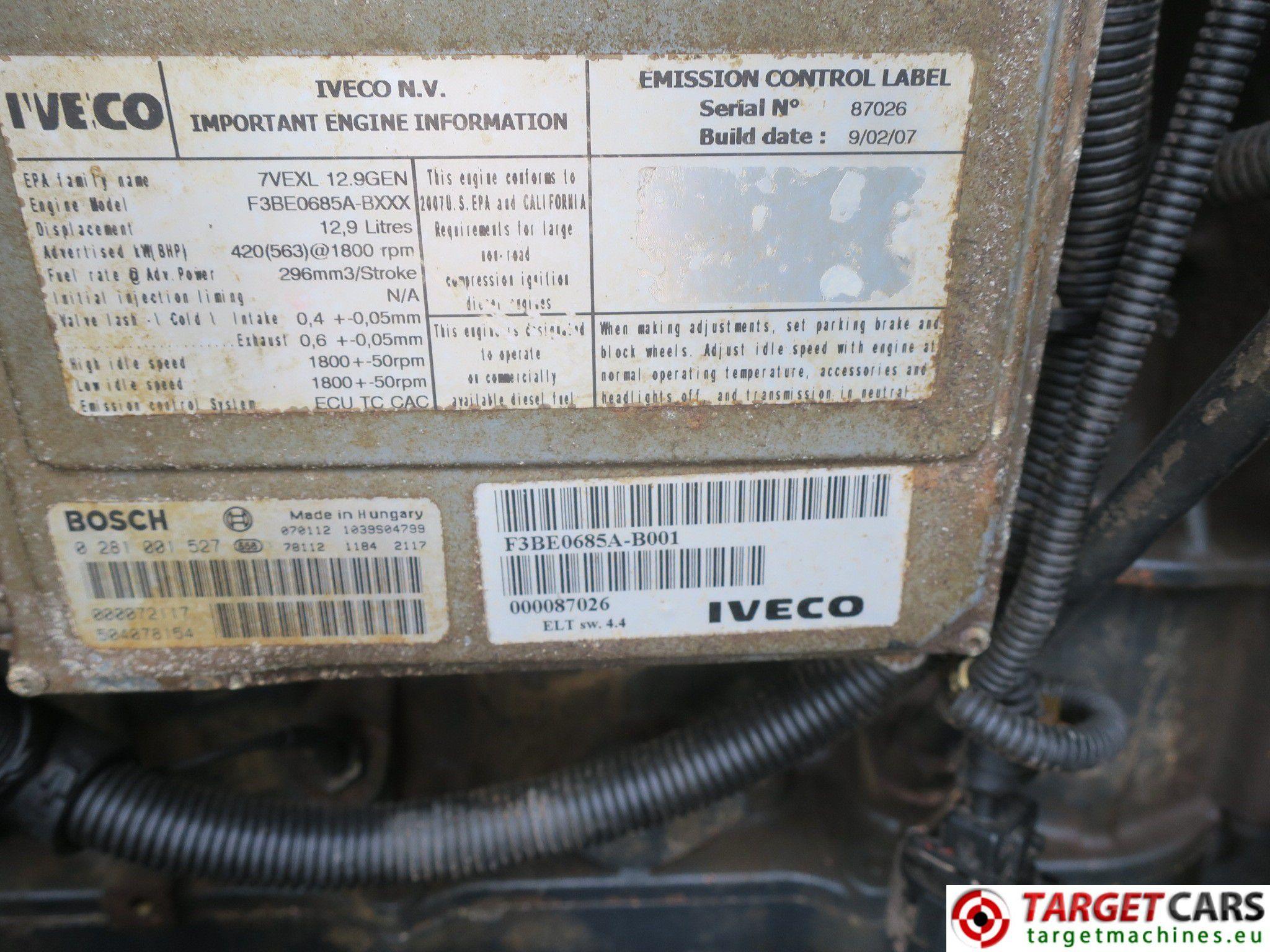 HIMOINSA HFW-400 DIESEL 400KVA GENERATOR SET IVECO 2007 7103228