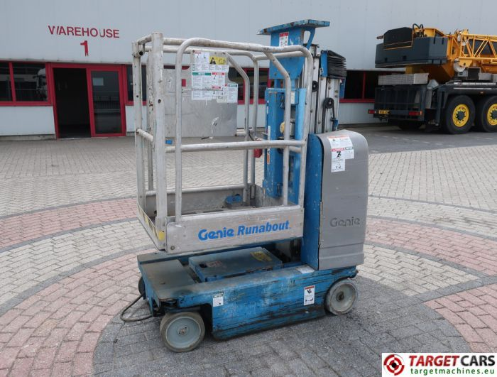 GENIE GR-15 RUNABOUT GR15 VERTICAL MAST WORKLIFT 2007 652CM GR07-10308 DEFECT INCOMPLETE