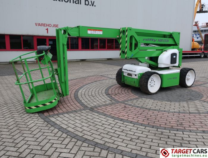 NIFTYLIFT HR15NDE ARTICULATED BI-FUEL BOOM WORKLIFT 2001 1550CM 158882 DEFECTIVE INCOMPLETE