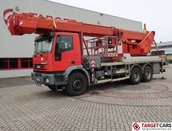 IVECO 260E 35H 352HP 6x4 TRUCK 06/04 RED W/MULTITEL J340TA BOOM LIFT 40M Multitel J340TA