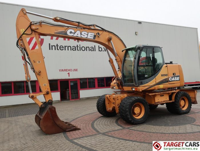 CASE WX145 WHEELED MOBILE EXCAVATOR W/1-BUCKET 120CM 2005 14.3T 15989HRS