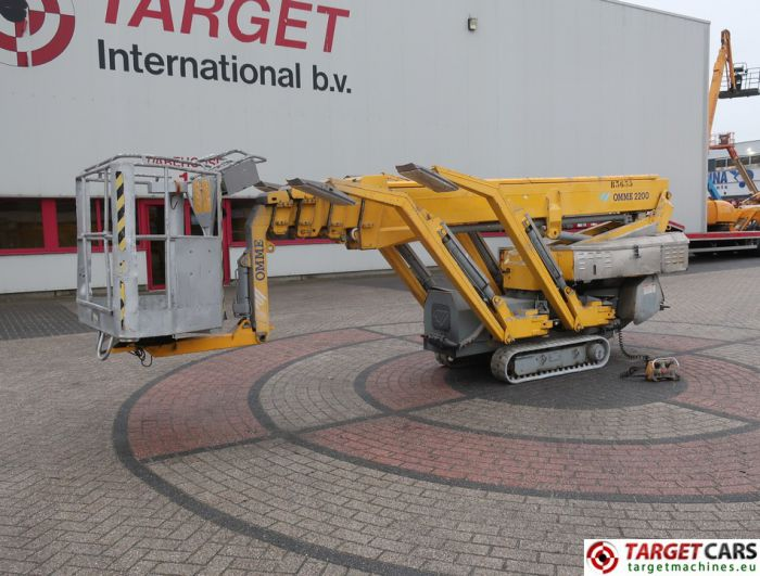 OMME 2200RBD SPIDER NARROW TRACKED CRAWLER TELESCOPIC BOOM WORK LIFT BI-FUEL ELECTRIC/DIESEL 2180CM 2006 5466SLL