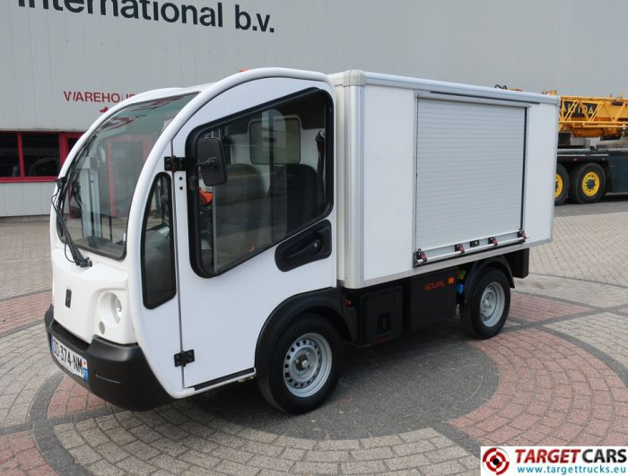 GOUPIL G3 ELECTRIC UTILITY VEHICLE UTV CLOSED BOX LONG WIDE VAN 02-2014 WHITE 13918KM