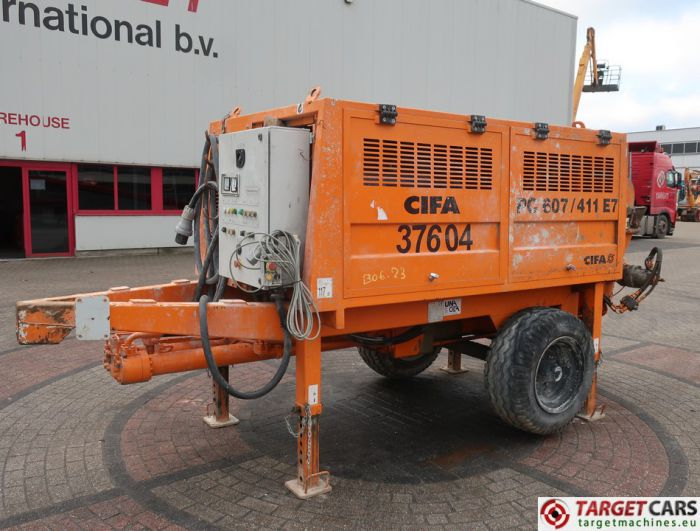CIFA PC607/411 E7 PORTABLE ELECTRIC 380V CONCRETE PUMP 2016 360HRS