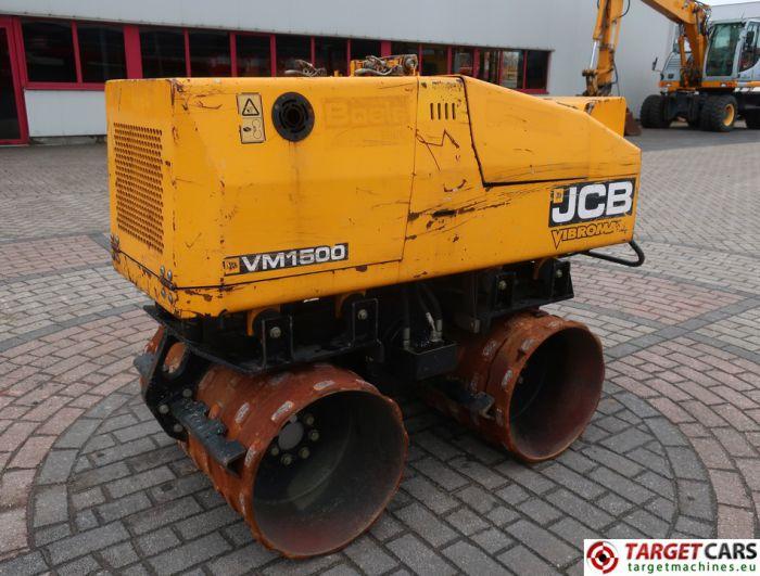 JCB VIBROMAX VM1500 TRENCH ROLLER 85CM COMPACTOR GRABENWALZE 549HRS 2010 1530KG