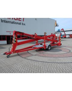 SKY HIGH 1800 TOWABLE ARTICULATED BOOM WORK LIFT 1800CM 1999 ELECTRIC 230V NL-REG WP-HD-15