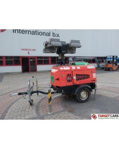 TOWERLIGHT SUPERLIGHT VT1 MK2 ECO MOBILE LIGHTNING 4x1000W TOWER LIGHT W/9KVA GENERATOR 230V 2009 7133H