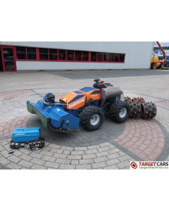 IRUS QUATRAK 125CM FLAIL REMOTE CONTROL WHEELED ALL TERRAIN 4WD 4WS MOWER 2016 175HRS